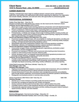 bank resume samples teller no experience and free banking resume examples