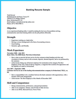 banking resume sample pdf and examples of teller banking resume