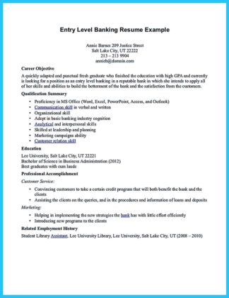 banking resume samples for freshers and resume examples bank teller objective