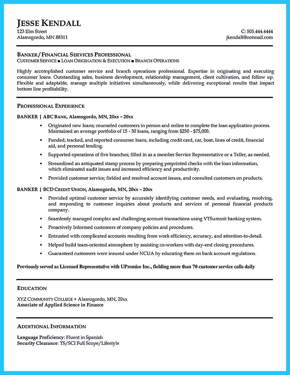 related post of chase personal banker resume sample
