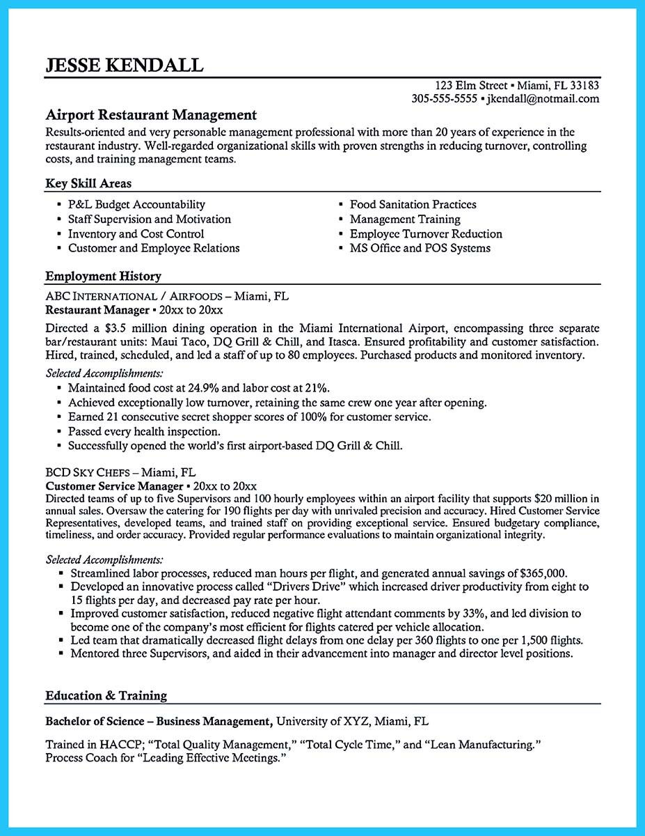 bar manager resume sample and bar manager resume job description