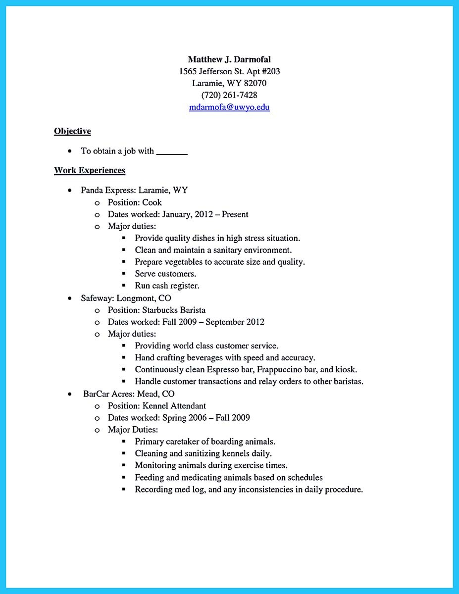 barista responsibilities resume sample