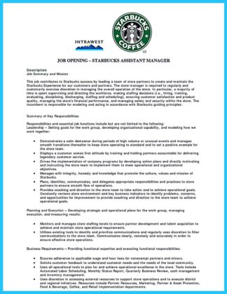 Example Of A Barista Resume
