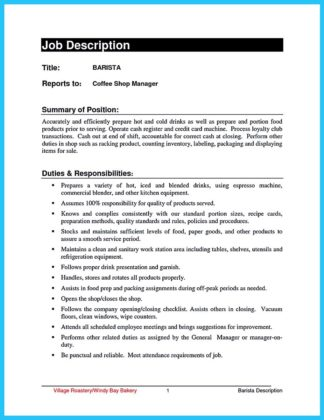30 Sophisticated Barista Resume Sample That Leads to Barista Jobs  %Image Name
