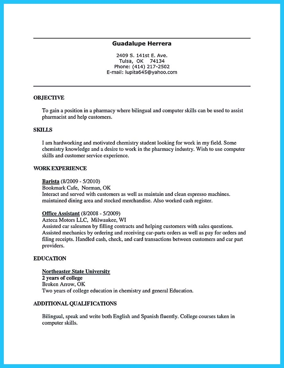 barista resume sample objective