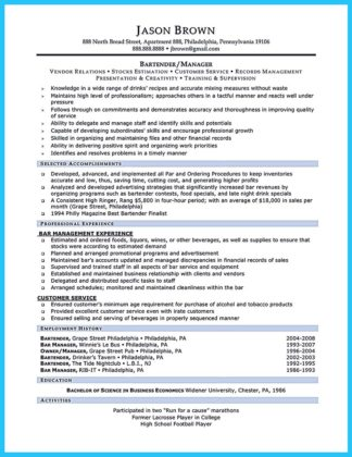 Impress the Recruiters with These Bartender Resume Skills  %Image NameImpress the Recruiters with These Bartender Resume Skills  %Image Name
