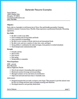 Impress The Recruiters With These Bartender Resume Skills | How To