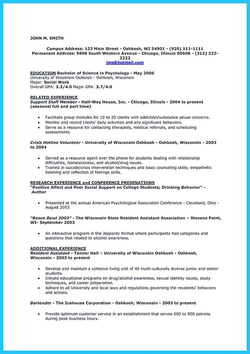 Bartending Resume Templates  TeachengUs