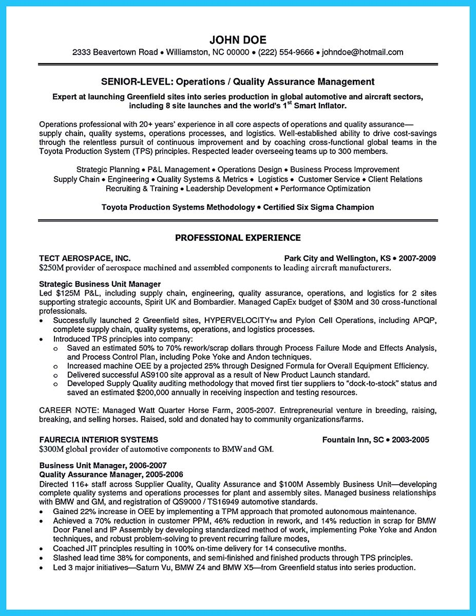 basic automotive resume_001