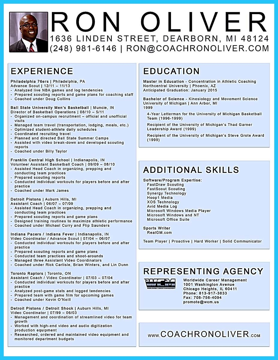 captivating thing for perfect and acceptable basketball coach resume