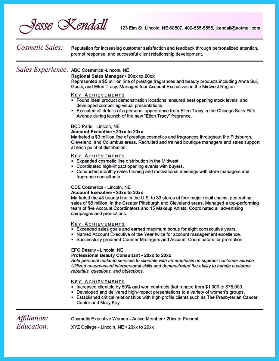 promotion resume sample sales trainer resume cosmetic sales resumes template beauty advisor resume sample and job