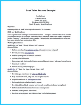 Teller Resume Example. Banking Resume Examples Executive Resume ...