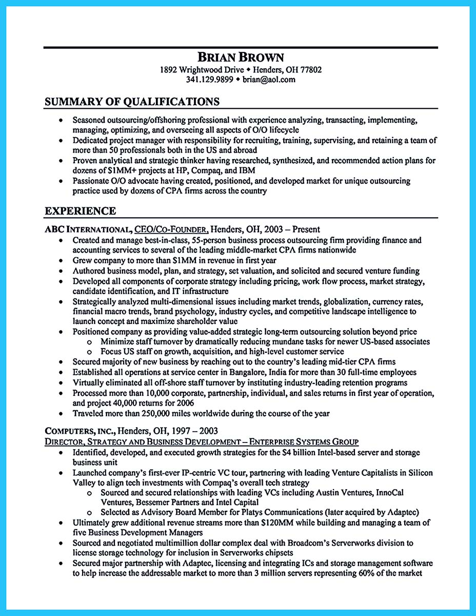 best business intelligence resume