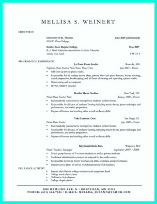 best college graduate resume