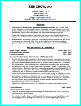 best construction project manager resume sample