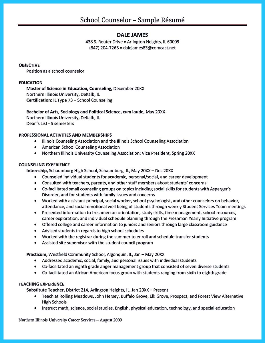 School Counselor Resume Counseling Resume Format School Counselor