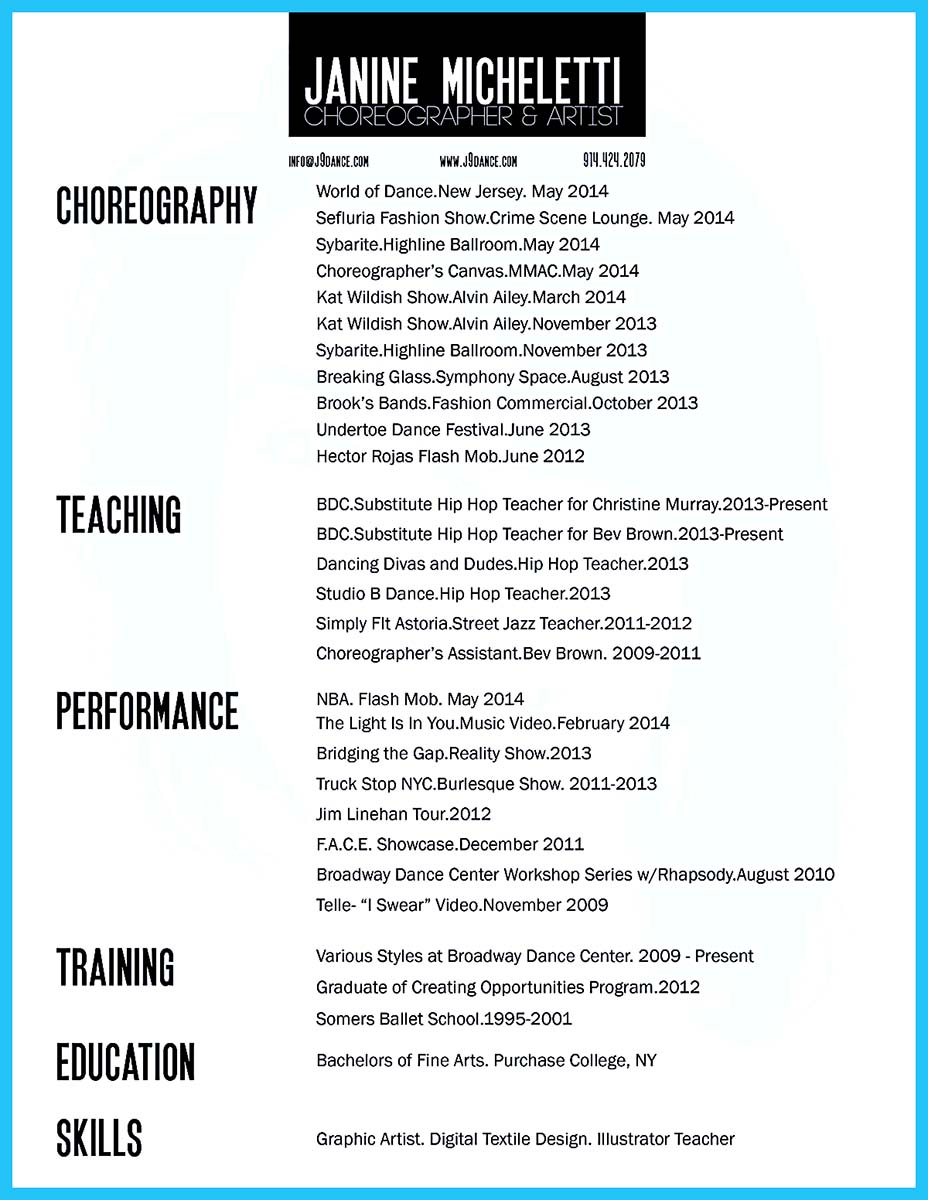 100 Dancer Resume Format Help Desk Resume Models Corporate