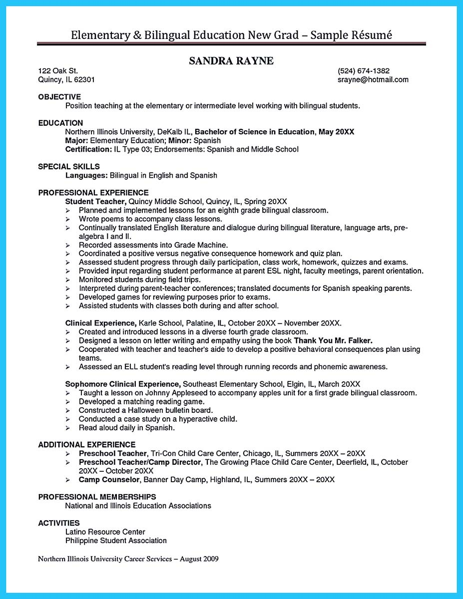 Bilingual In Resume And On Sample