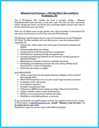 bilingual resume examples and bilingual secretary resume