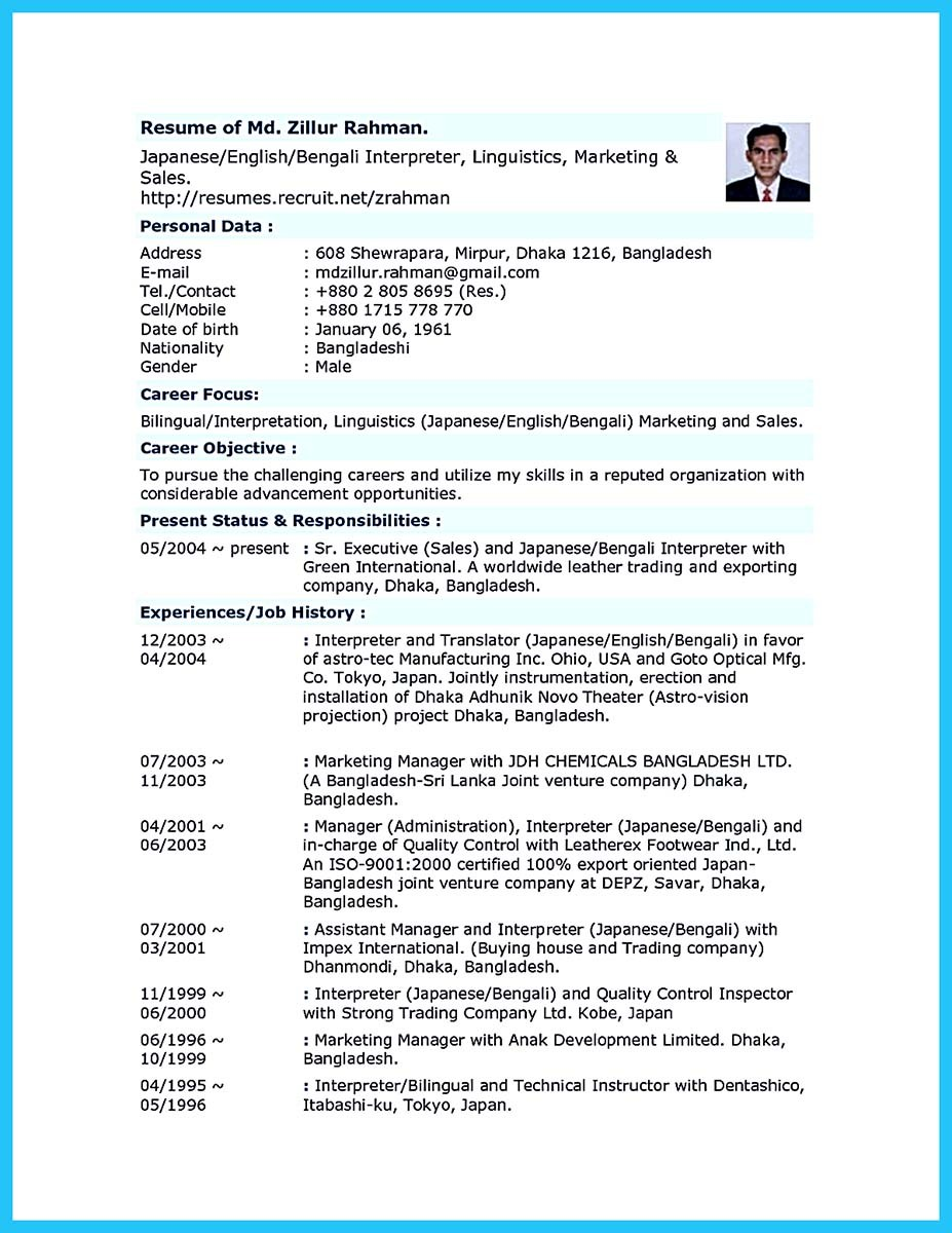 Breathtaking Facts About Bilingual Resume You Must Know