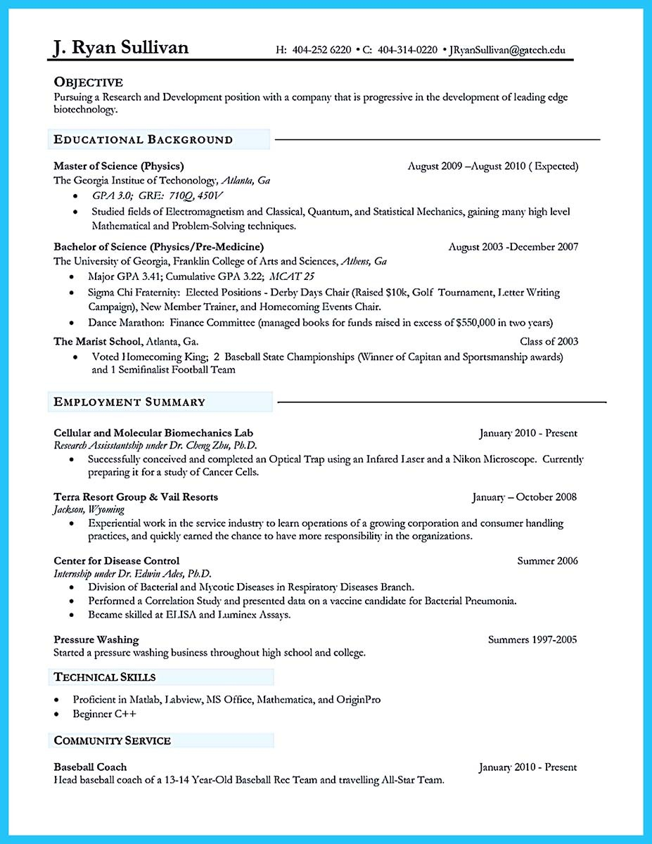 sophisticated job for this unbeatable biotech resume - Resume Samples For Biotech Jobs