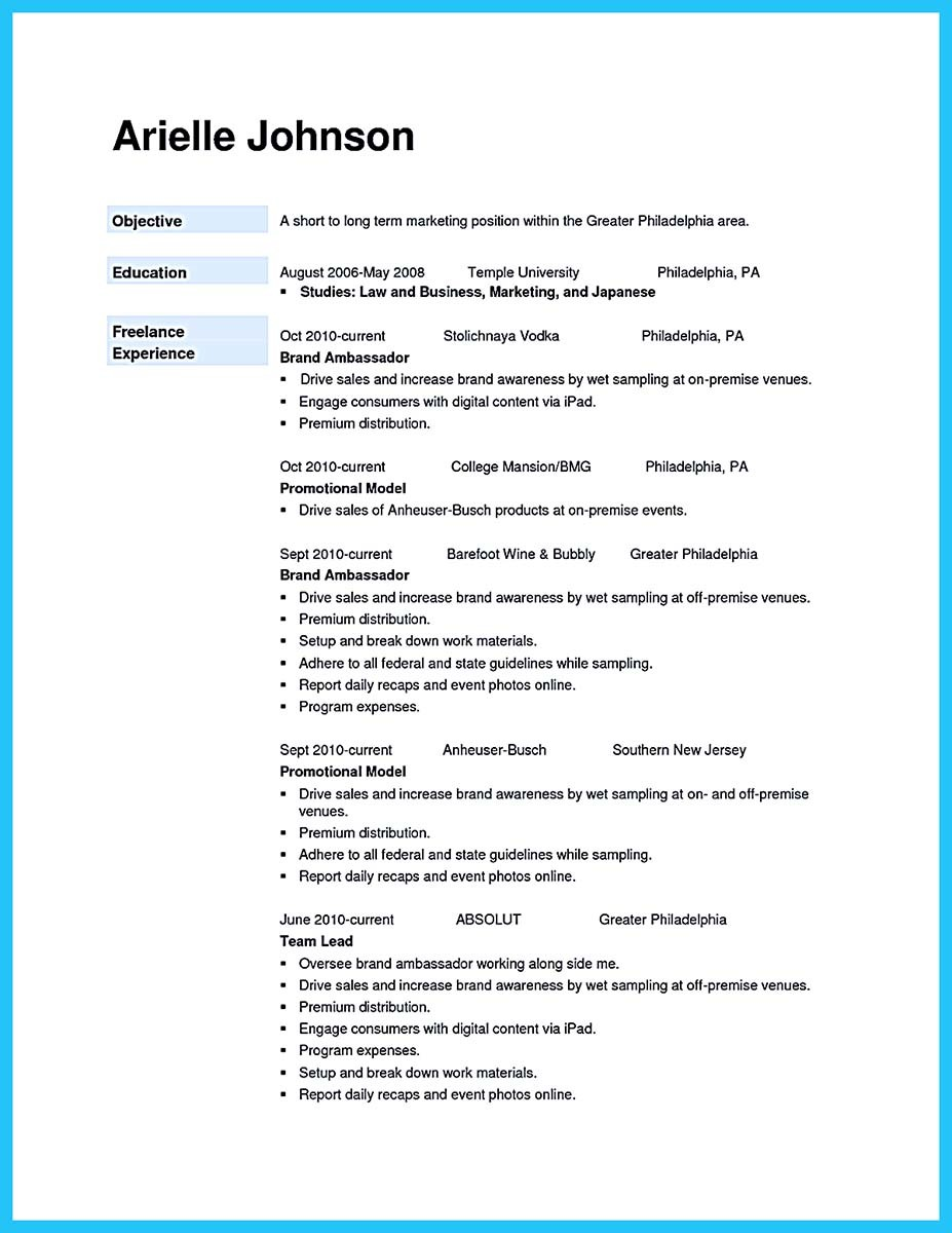 Brand Ambassador Resume Example And Best