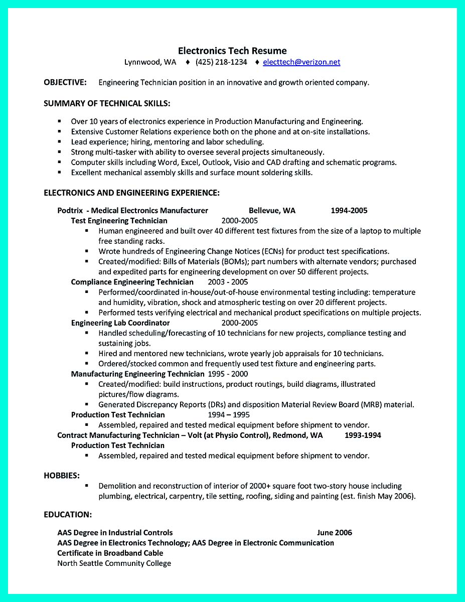 bs computer engineering resume