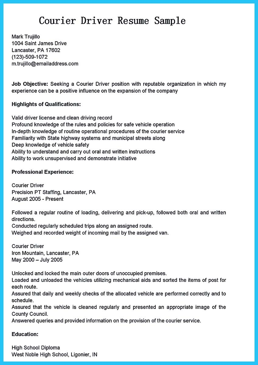 class a cdl driver resume sample resumes ambulance cdl truck expozzer delivery driver combination resume sample - Sample Resume Objectives For Drivers