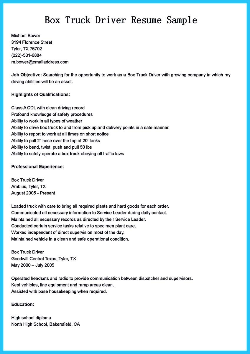 driver resume sample doc class a driver cover letter