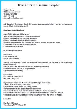 stunning bus driver resume to gain the serious bus driver job how to
