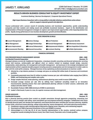 business administration resume qualifications