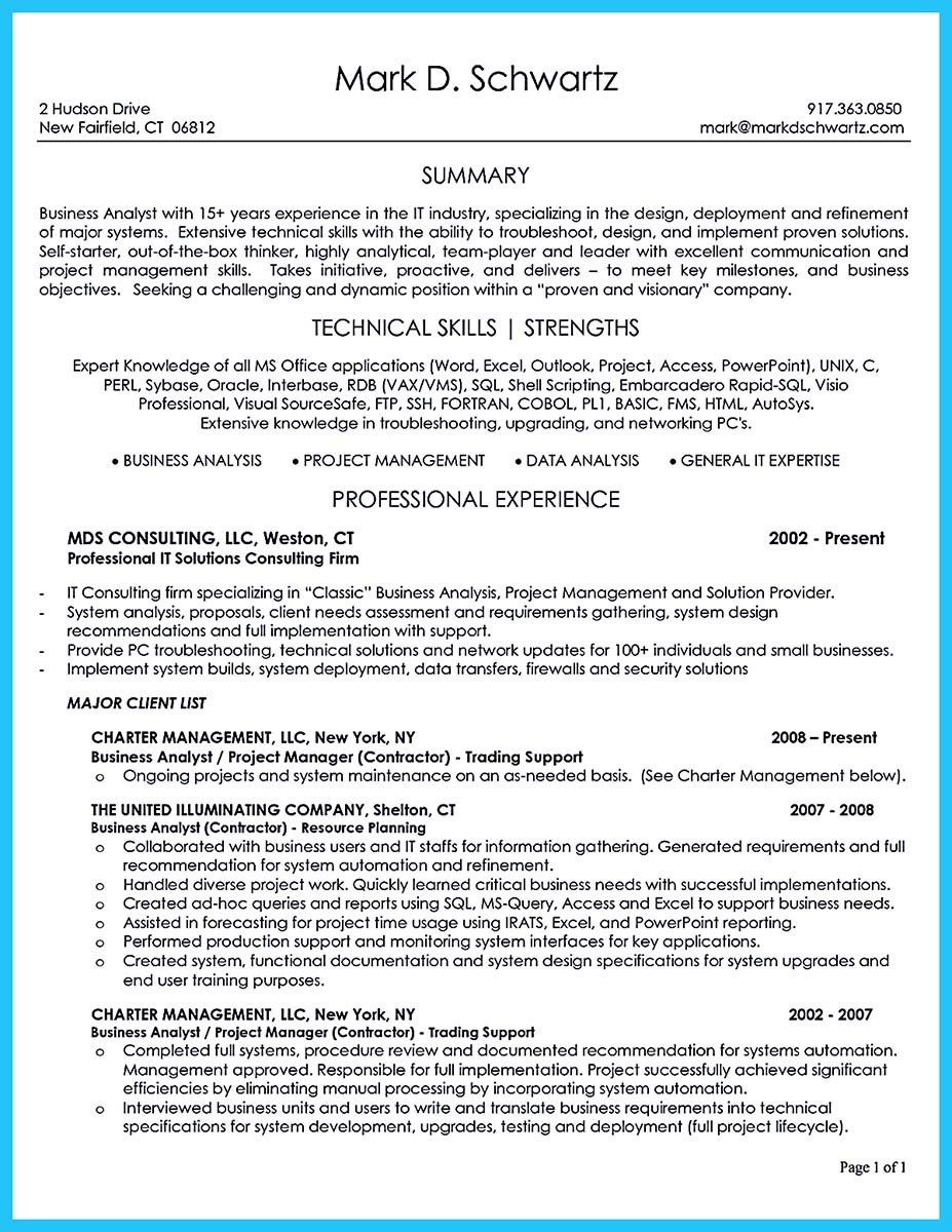 sample resume for business analyst in banking domain - create your astonishing business analyst resume and gain