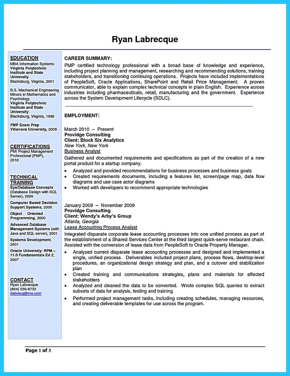 business analyst resumes - 28 images - business analyst resume ...