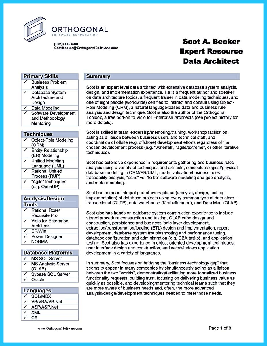 Resume For Business Analyst Personal Skills Audit Sample Company Junior It  Business Analyst Sample Resume Business  Systems Analyst Resume