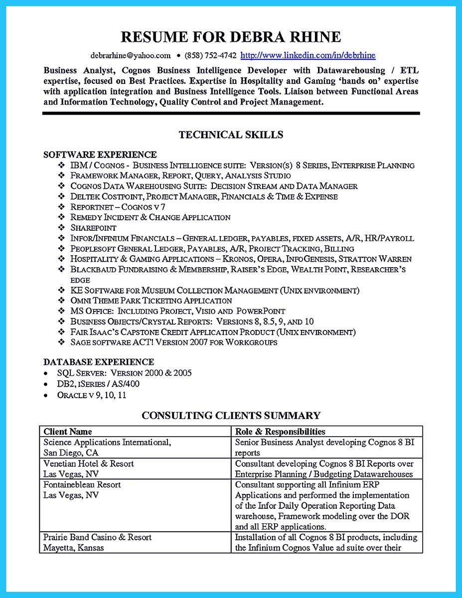 Create your astonishing business analyst resume and gain for Business administration resume skills