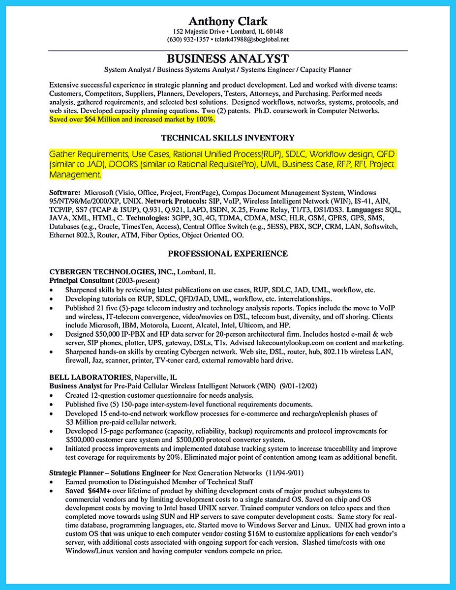 100 example of business analyst resume treasury analyst