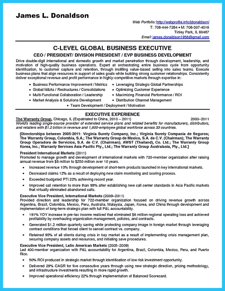 business development executive job description resume