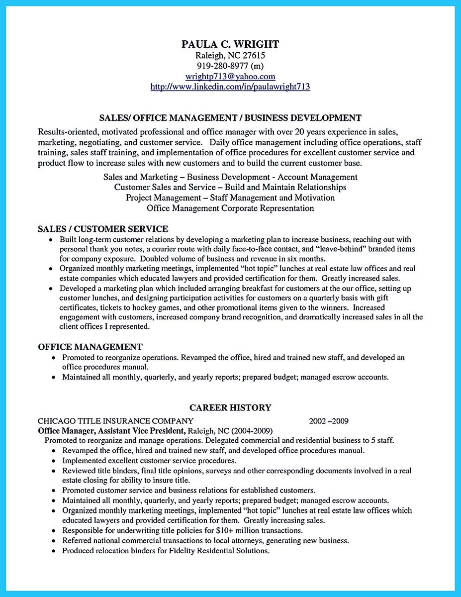 business development manager achievements sample resume
