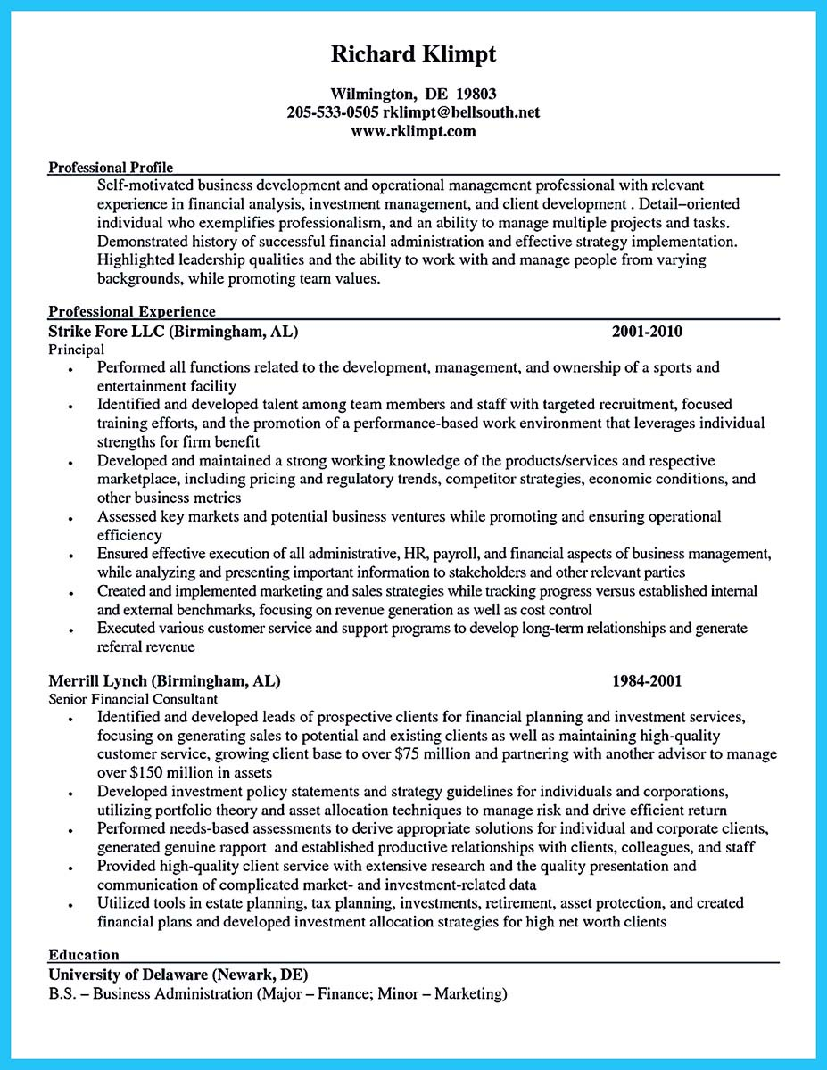 Sample Resume Business Development Manager Banking Resume .