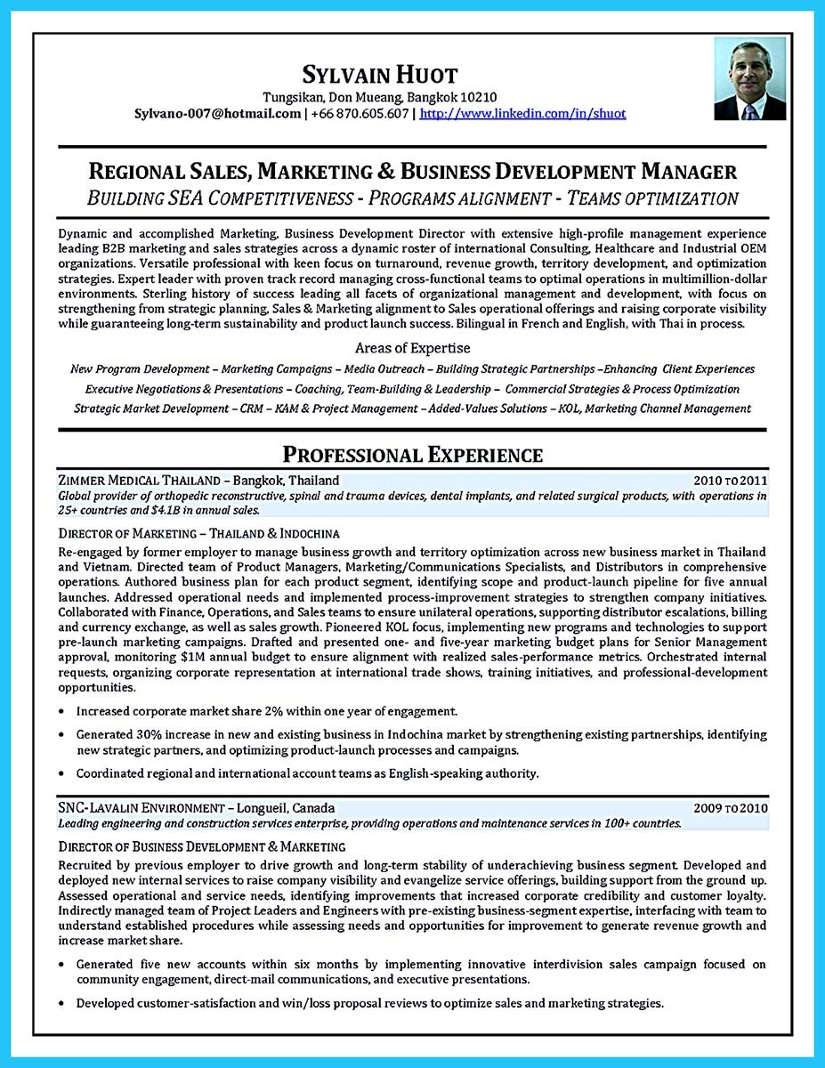 business development manager job description resume