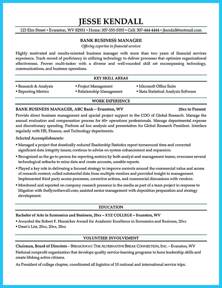 business development manager resume for freshers