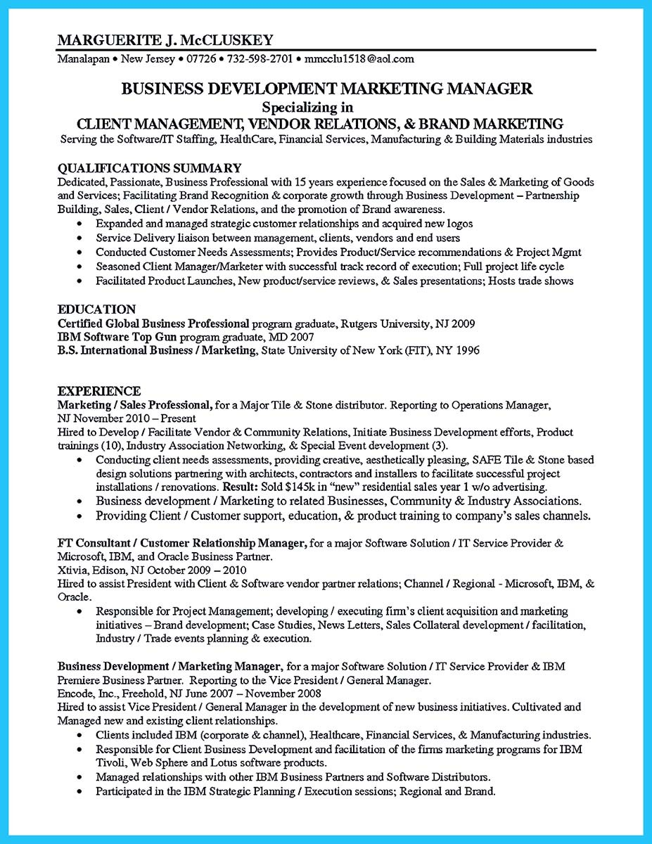 business development resume oil and gas