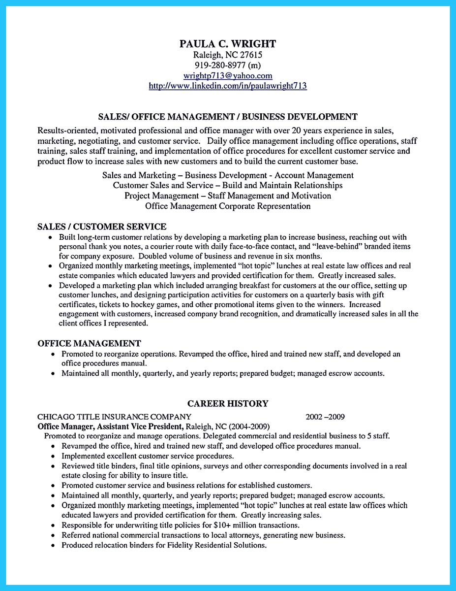 ... Business Intelligence Manager Resume Sample ...  Office Management Resume