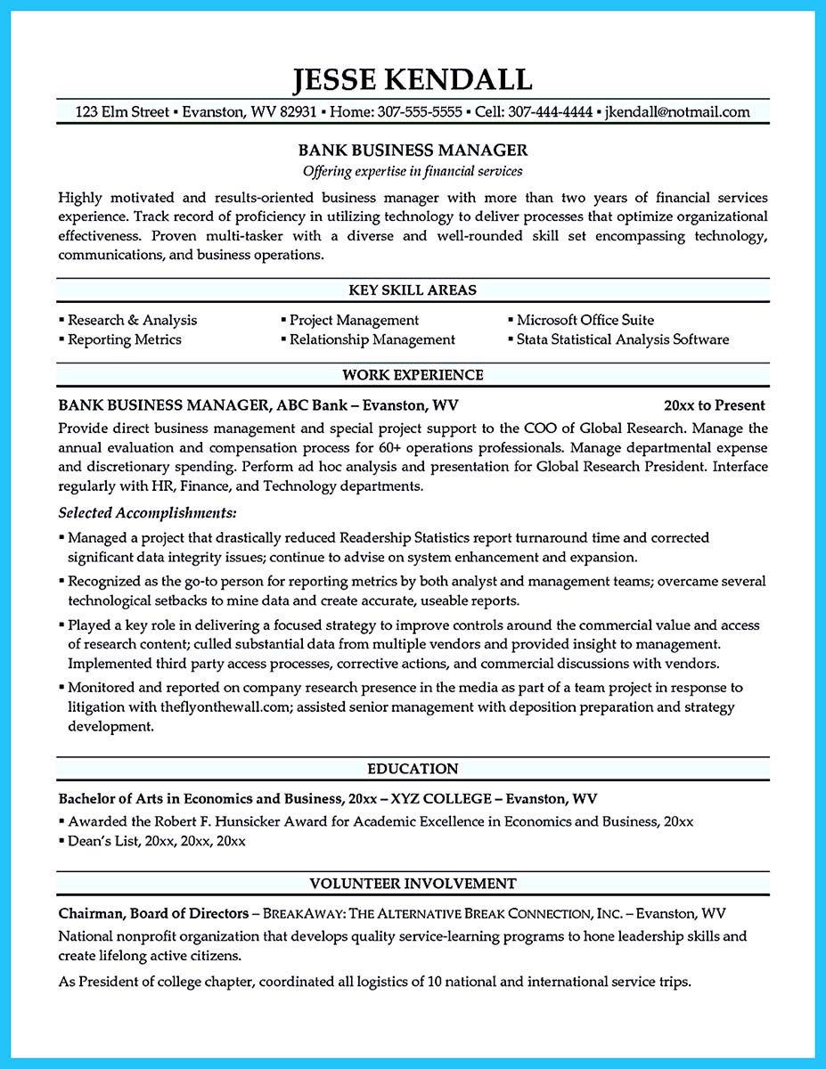 business intelligence resume format