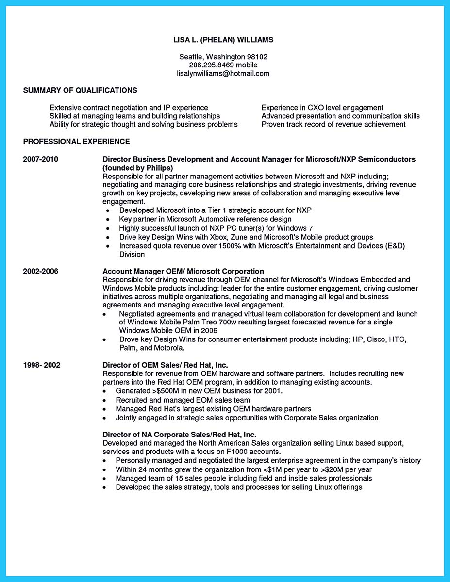 business manager resume format