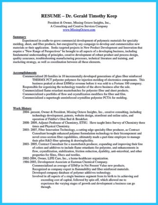 business owner resume objective