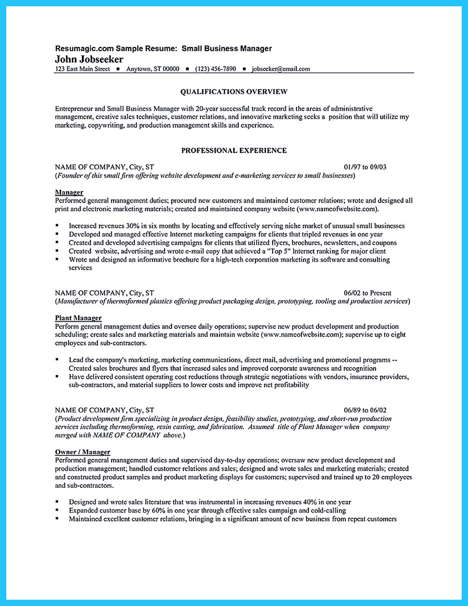 ... Business Owner Resume Sample ...  Business Owner Job Description For Resume