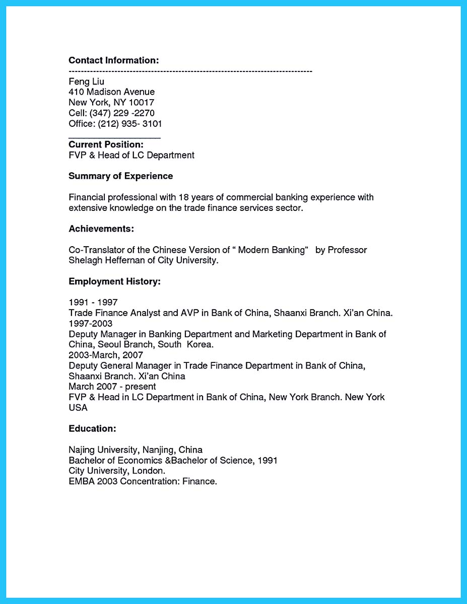 business school resume bullets