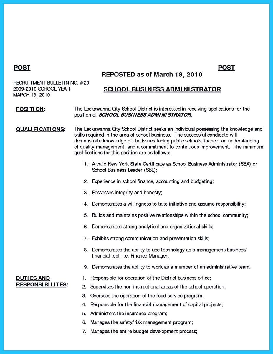 business school resume guide