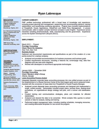 business systems analyst resume cover letter